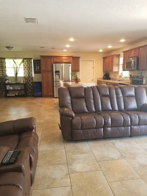 Couch leather recliner for Sale in Lakeland, FL