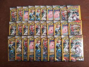 POKEMON THIRTY (30) SUN & MOON COSMIC ECLIPSE 3 CARD BOOSTER PACKS ALL BRAND NEW & FACTORY SEALED!!! for Sale in Pomona, CA