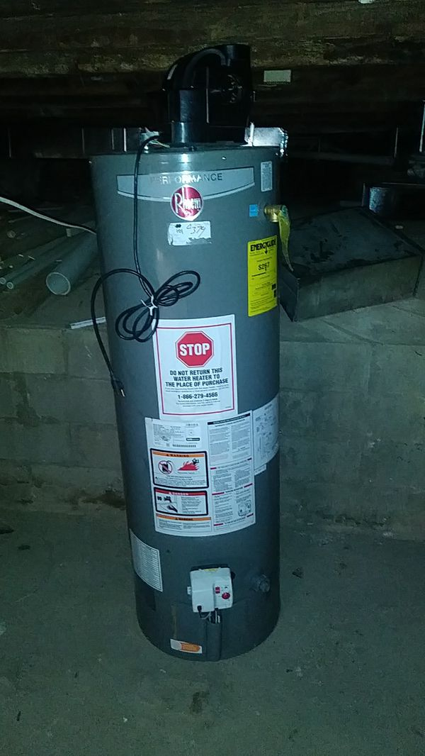 Rheem 40 gallon powervent