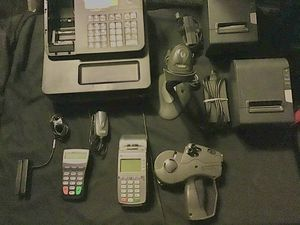 Cash register, atm card readers, receipt printers, price tag labelers, barcode scanner, business equipment for Sale in Tucson, AZ