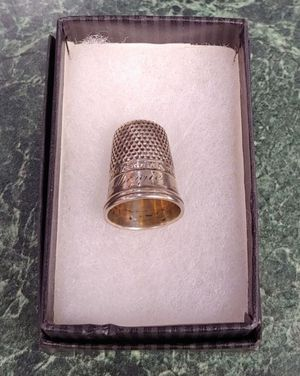 Vintage Sterling Thimble, Engraved Name Maggie #7 Seamstress Gift for Sale in Burlington, NC