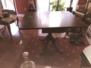 Antique drop leaf table with lion pull handle for Sale in Durham, NC