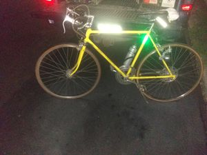 Vintage Schwinn continental bike with generator headlight and tail light still working condition and original bike license for Sale in Greensburg, PA