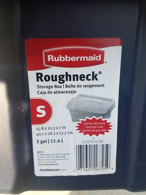 Rubbermaid roughneck storage container for Sale in HILLTOP MALL, CA