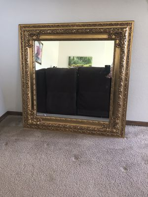 Gold decorative mirror for Sale in Hayward, CA