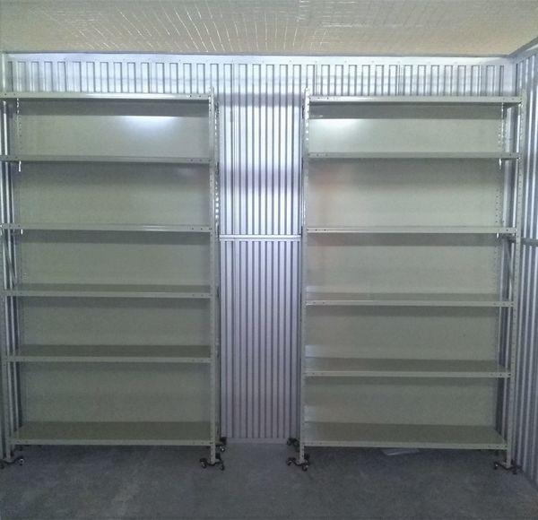 2 - COMMERCIAL SHELVING (TRI-BORO Industrial Steel Shelves)