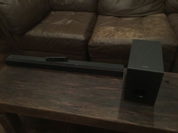 Sony 3' sound bar with subwoofer. Comes with remote. Perfect like new condition, Paid $135, will sell for $50