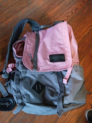 Pink and grey bookbag for Sale in Akron, OH