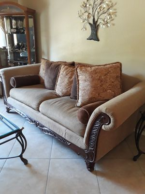 Loveseat Sofa W Tables for Sale in Fresno, CA