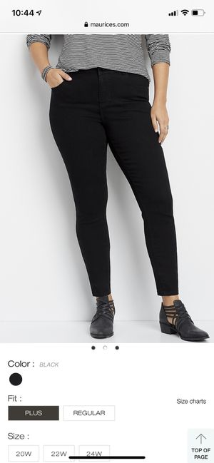 Maurices black skinny jeans size 20w like new for Sale in Tacoma, WA