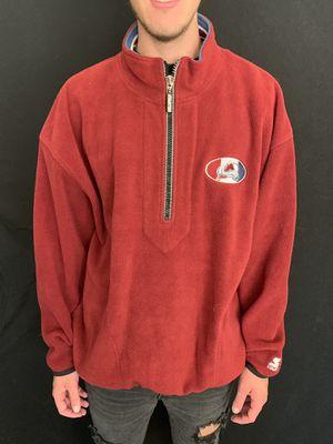 Vintage Colorado avalanche fleece half zip up jacket size 2XL for Sale in Phoenix, AZ