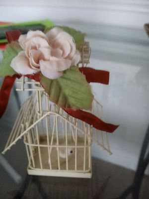 Bird in cage ornament for Sale in Spring Hill, FL