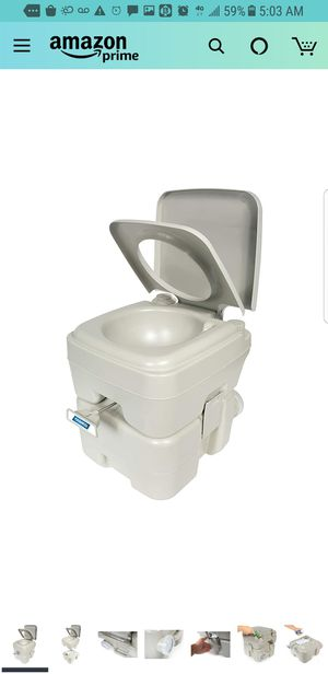 Camco (41541) Portable Travel Toilet-Designed for Camping, RV, Boating and Other Recreational Activities-5.3 Gallon for Sale in City of Industry, CA