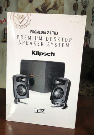 Klipsch promedia 2.1 THX premium desktop speaker system for Sale in San Diego, CA
