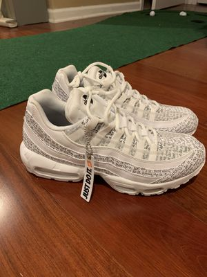 "Authentic Men's Nike Air Max 95 ""JDI"" White Size 7.5 for Sale in Durham, NC"
