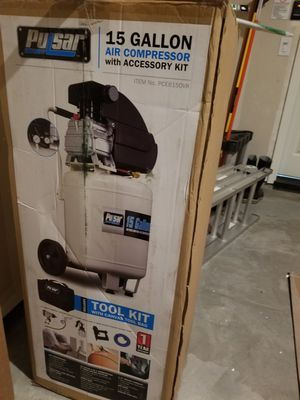Brand New Puksar 15 Gallon Tank Portable Electric Air Compressor with Accessories. Retails at $468 for Sale in Sacramento, CA