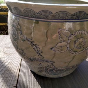 Vintage Asian Chinoiserie Planter 14 In for Sale in Monroe, WA