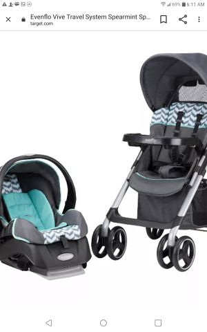 Brand new never used at all carseat and stroller combo for Sale in Brandon, FL