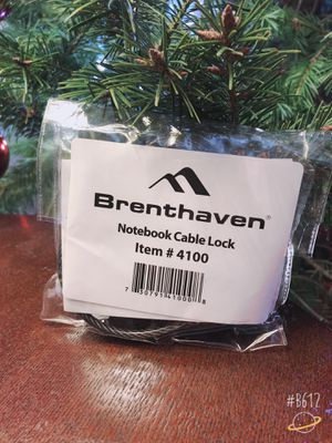 Brenthaven notebook cable lock for Sale in Brambleton, VA