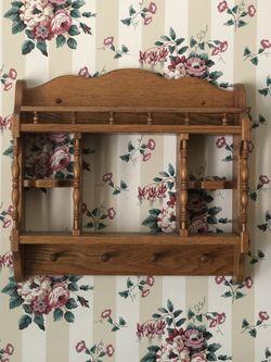 Wall Decor - Oak Wall Curio Shelf for Sale in Colleyville,  TX