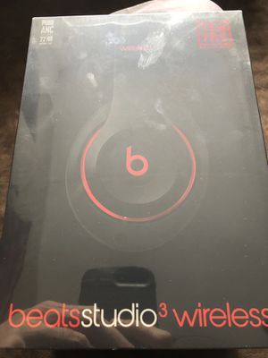 Brand new Beats Studio 3 Wireless Headphones (Black and Red) for Sale in Elk Grove Village, IL