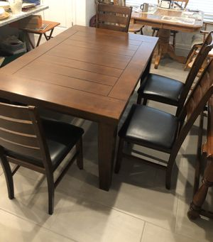 Table & chairs with bench for Sale in Pflugerville, TX