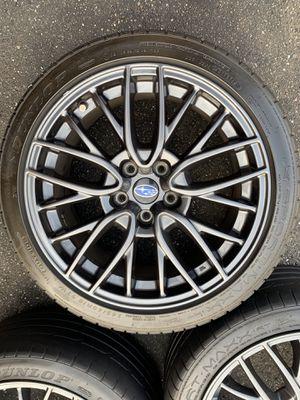 Subaru sti wheels rims Rines tires Wrx Oem Factory 2017 for Sale in Los Angeles, CA