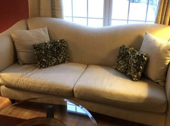 Beige Two Seater Sofa for Sale in Southborough,  MA