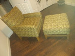 Accent chair and ottoman for Sale in Miami, FL