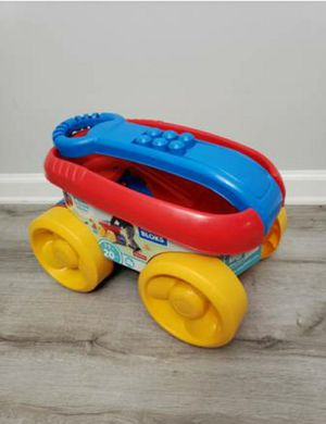 Mega bloks push to scoop wagon toy for Sale in Arlington, VA