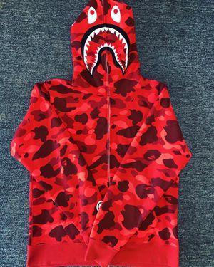Bape Color Camo Red Shark Hoodie for Sale in Boston, MA