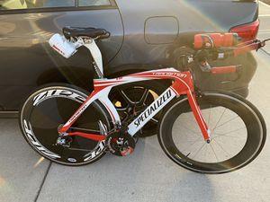 TT Triathlon bike with Zipp Disc/808 race wheels for Sale in Vancouver, WA