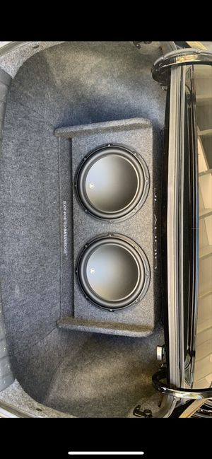 2 JL Audio 12 inch W3v3 with JL Audio enclosure tuned to 30hz. Come with speaker grills. for Sale in Los Angeles, CA