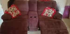 Brown microfiber reclining couch and loveseat $350.00 obo for Sale in Fort Wayne, IN