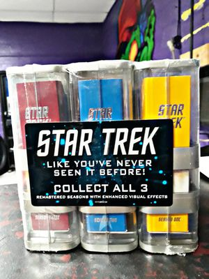 STAR TREK DVD SET REMASTERED SEASONS 1, 2, & 3 FACTORY SEALED for Sale in Houston, TX