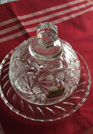 Crystal butter dish for Sale in Falls Church, VA