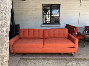 Orange/ coral sofa couch for Sale in Corona, CA