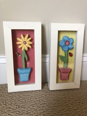 Wall decor for girl's room -two pieces for $10 for Sale in Haymarket, VA