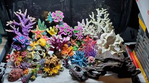 AQUARIUM DECORATIONS/ L/M/S. NATURAL, COLORFUL GLO..... for Sale in Olympia, WA
