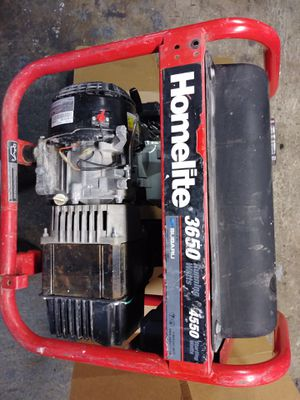 HOMELITE GENERATOR (120/240~3650 watts) 7HP for Sale in Lowell, MA