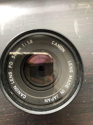 Canon FD 50mm 1:1.8 for Sale in Norwalk, CA
