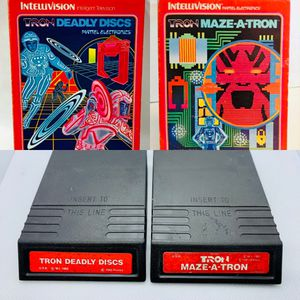 TRON Deadly Discs & Tron Maze A Tron Mattel Intellivision Video Game Cartridges only for Sale in Puyallup, WA