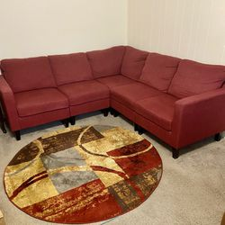 Red Wine Color Sectional For Small Apt for Sale in Orlando,  FL