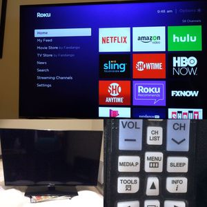 """32"""" SAMSUNG HD TV WITH ROKU STICK AND WALL MOUNT for Sale in Dallas, TX"""