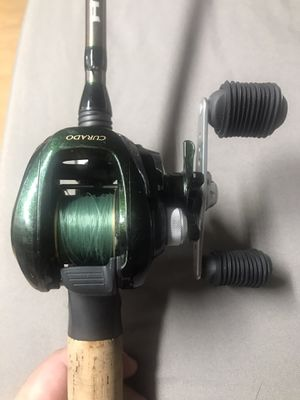 Curado 50E fishing reel and H2O Rod. for Sale in Houston, TX