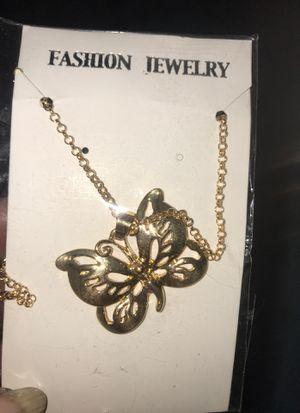Jewelry butterfly necklace for Sale in Spokane, WA