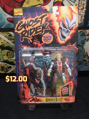 "1996 Marvel Toy Biz Ghost Rider Armored Blaze 5"" Figure w/Flame Glow (GITD), NEW for Sale in Alameda, CA"