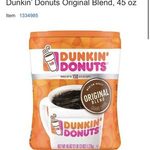 Dunkin' Donuts Ground Coffee 45oz for Sale in San Diego, CA