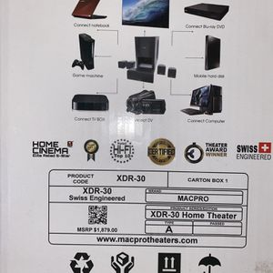 Home Theatre Sound System Mac Pro Theaters XDR-30 for Sale in LAKE LINCOLND, NY