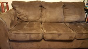 Brown sofa couch bed and green sofa couch for Sale in Gaithersburg, MD